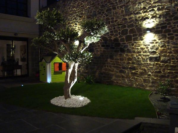 Vert l 39 ouest paysagiste eclairage de jardin espace v g tal for Eclairage de jardin